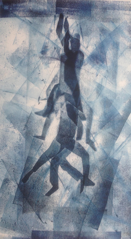 holdingon_bluemonoprint_hanging